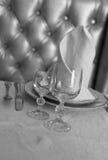 Glasses at restaurant Royalty Free Stock Photo