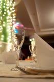 Glasses at restaurant Stock Photo