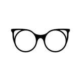 glasses retro Μαύρες σκιαγραφίες γυαλιών ηλίου Εικονίδιο γυαλιών ματιών επίσης corel σύρετε το διάνυσμα απεικόνισης Διανυσματική απεικόνιση