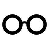 glasses retro Μαύρες σκιαγραφίες γυαλιών ηλίου Εικονίδιο γυαλιών ματιών επίσης corel σύρετε το διάνυσμα απεικόνισης Στοκ Εικόνα