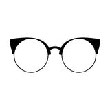 glasses retro Μαύρες σκιαγραφίες γυαλιών ηλίου Εικονίδιο γυαλιών ματιών επίσης corel σύρετε το διάνυσμα απεικόνισης Απεικόνιση αποθεμάτων