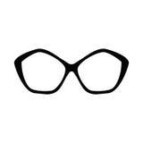 glasses retro Μαύρες σκιαγραφίες γυαλιών ηλίου Εικονίδιο γυαλιών ματιών επίσης corel σύρετε το διάνυσμα απεικόνισης Ελεύθερη απεικόνιση δικαιώματος