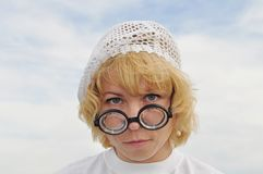 Glasses, round and increase Royalty Free Stock Photos