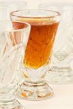 Glasses in a row. There are some drinking-glasses in the picture Royalty Free Stock Image