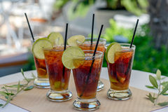 Glasses with rum cocktail Royalty Free Stock Images