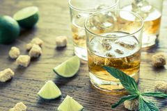 Glasses of rum Stock Photography