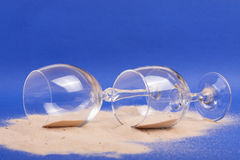 Glasses with sand Stock Photo
