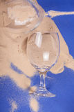 Glasses with sand Stock Photography