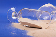 Glasses with sand Royalty Free Stock Photography
