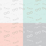 Glasses Seamless Pattern in 4 Colors Stock Photo