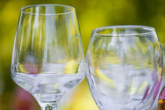 Glasses. Served for a refreshment Royalty Free Stock Photos