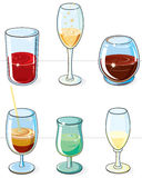 Glasses set Stock Images
