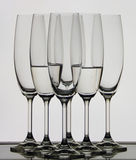 Glasses. Set of glasses in dark color Stock Photo