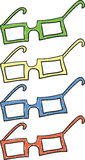 Glasses. A set of glasses in four different colors Vector Illustration