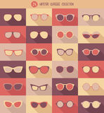 Glasses set, hipster glasses,  Stock Images