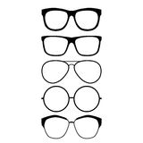 Glasses. Set of glasses style vector Stock Photography