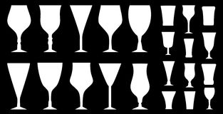 Glasses set Royalty Free Stock Images
