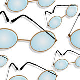 Glasses shadowed pattern Royalty Free Stock Image