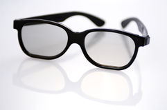 Glasses - shallow DOF. A pair of black rimmed glasses shot in very shallow DOF stock photography