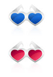 Glasses in the shape of heart Stock Image