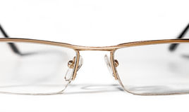 Glasses for sight. On a white background Royalty Free Stock Photography
