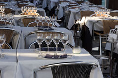 Glasses and silverware Royalty Free Stock Photo