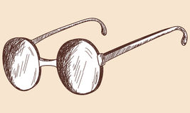 Glasses sketch. Royalty Free Stock Photo