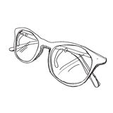 Glasses sketch  Stock Photography