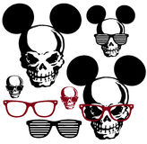 Glasses and the skull Royalty Free Stock Photo