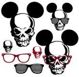 Glasses and the skull. I drew the skull interestingly Royalty Free Stock Photo