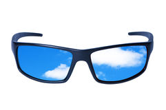 Glasses with sky and clouds. Stock Photo