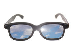 Glasses with sky reflection Stock Photo