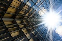 Glasses of skyscraper Stock Image