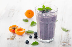 Glasses of smoothies with fresh berries Stock Photo