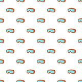 Glasses for snowboarding pattern, cartoon style Stock Photo