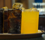 Glasses of soft drink Royalty Free Stock Photos