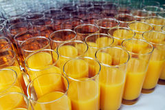 Glasses with soft drinks. Shallow depth of field Royalty Free Stock Photography