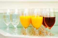 Glasses with soft drinks Royalty Free Stock Photos