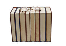Glasses on some books. Royalty Free Stock Photos