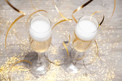 Glasses of sparking wine Stock Images