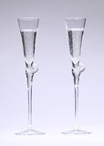 Glasses with Sparkling Fluid Stock Photo