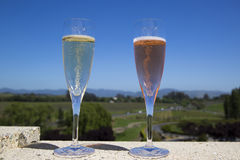 Glasses with sparkling wine Stock Photography