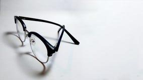 Glasses_specs de gaufrette sur le fond propre image stock