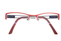Glasses, specs, spectacles. Pair of spectacles on white with reflection Stock Photography