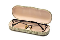 Glasses in a spectacle-case. Black glasses in a spectacle-case Royalty Free Stock Photo