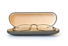 Glasses in spectacle case Royalty Free Stock Images