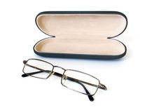 Glasses and spectacle case Stock Images