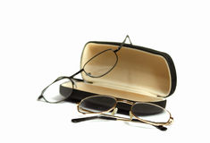 Glasses with spectale case Royalty Free Stock Photos
