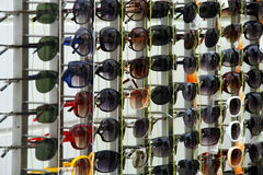 Glasses stand stock photo