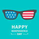 Glasses with stars and strips. Happy independence day United states of America.  Stock Images